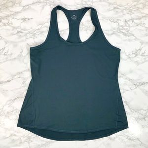 Athleta Dark Green Chi Tank Top L